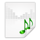 128x128px size png icon of mimetypes audio x generic