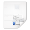 128x128px size png icon of mimetypes message