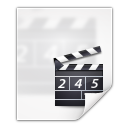 128x128px size png icon of mimetypes video x generic