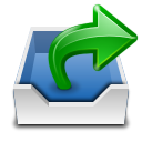places mail folder outbox Icon