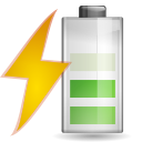 128x128px size png icon of status battery charging 060