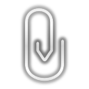 128x128px size png icon of status mail attachment