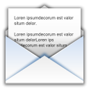 128x128px size png icon of status mail read