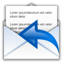 128x128px size png icon of status mail replied