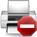 128x128px size png icon of status printer error
