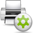 128x128px size png icon of status printer printing