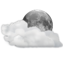 128x128px size png icon of status weather clouds night