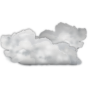 128x128px size png icon of status weather many clouds