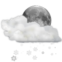 128x128px size png icon of status weather snow scattered night