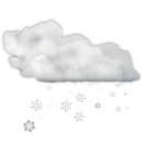 128x128px size png icon of status weather snow scattered