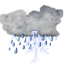 128x128px size png icon of status weather storm