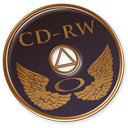 128x128px size png icon of Disk CD RW
