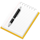 128x128px size png icon of Applic Notepad