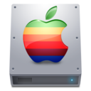 128x128px size png icon of Disk HDD Apple