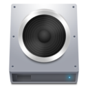 128x128px size png icon of Disk HDD Audio