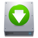 128x128px size png icon of Disk HDD Down