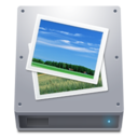 128x128px size png icon of Disk HDD Pictures