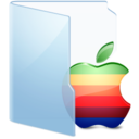 128x128px size png icon of Folder Blue Apple