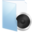 128x128px size png icon of Folder Blue Audio