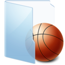 128x128px size png icon of Folder Blue Games