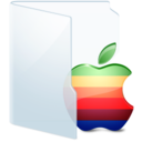 128x128px size png icon of Folder Light Apple