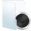 128x128px size png icon of Folder Light Audio