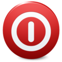 128x128px size png icon of Sign Shutdown