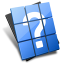 128x128px size png icon of Help File