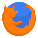 128x128px size png icon of Internet firefox