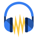 128x128px size png icon of Media audacity
