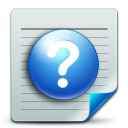 128x128px size png icon of Document help