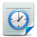 128x128px size png icon of Document scheduled tasks
