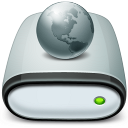 128x128px size png icon of Drive Network offline