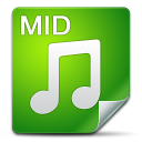 128x128px size png icon of Filetype mid