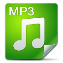 128x128px size png icon of Filetype mp 3