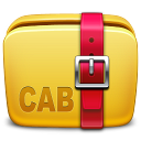 128x128px size png icon of Folder Archive cab