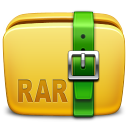 128x128px size png icon of Folder Archive rar