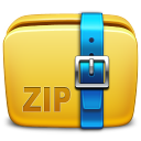 128x128px size png icon of Folder Archive zip