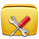 128x128px size png icon of Folder Settings Tools