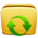 128x128px size png icon of Folder Subscription
