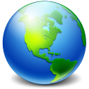 128x128px size png icon of Network Earth