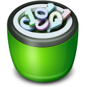 128x128px size png icon of Recycle Bin full