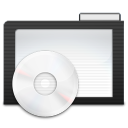 128x128px size png icon of Folder Dark Music