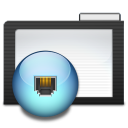 128x128px size png icon of Folder Dark Network