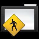 128x128px size png icon of Folder Dark Public