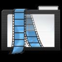 128x128px size png icon of Folder Dark Videos