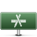 128x128px size png icon of Applications Sign