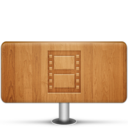 128x128px size png icon of Movies Wood