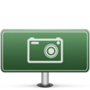 128x128px size png icon of Pictures Sign