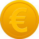 128x128px size png icon of coin euro
